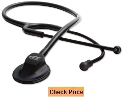 ADC ADSCOPE 615 Platinum Professional Clinician Stethoscope with AFD Technology 30.5 inch Tactical