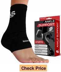 Sleeve Stars Professional Plantar Fasciitis Foot Sleeve with Compression Wrap Support