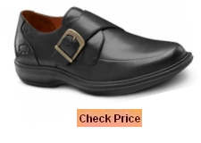 Dr. Comfort Men's Leader Therapeutic Dress Shoe Extra Depth Leather Velcro