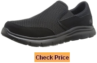 Skechers for Work Men's 77048 Flex Advantage Slip-Resistant Mcallen Slip On