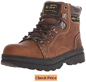 AdTec Women's 6 Inch Steel Toe Work Boot Brown