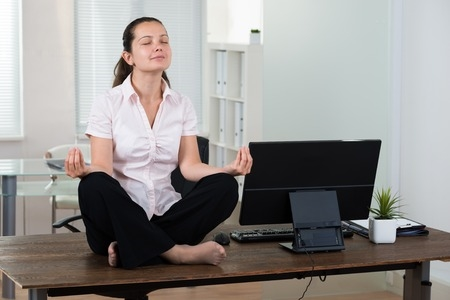 Woman in Yoga Stance
