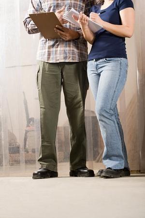 Workers Standing on Floor