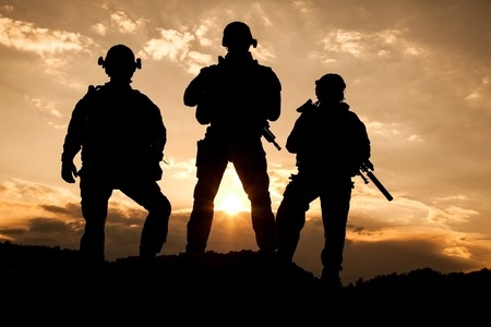 3 Soldiers Standing