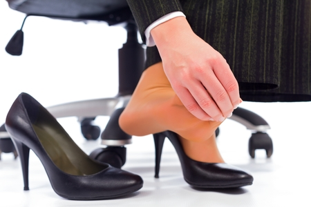 Woman's Toes Hurting after Wearing Heels