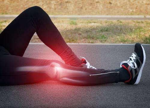 Runner with Knee Injury